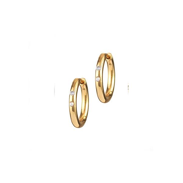 Brigitte Hoops Earrings Gold