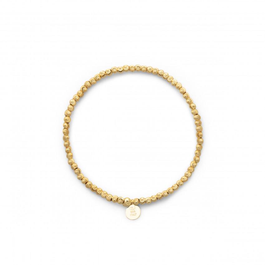 Cubic Elastic Bracelet Gold