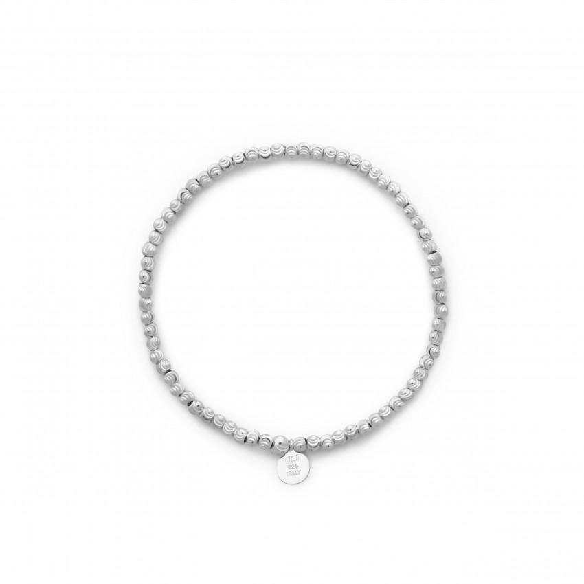 Cubic Elastic Bracelet Silver