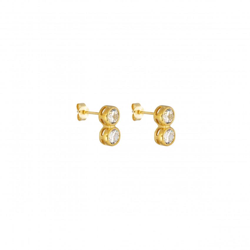 Cubic Twin Ear Gold