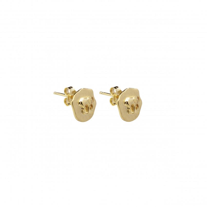 Letters Elephant Stud Ear Gold