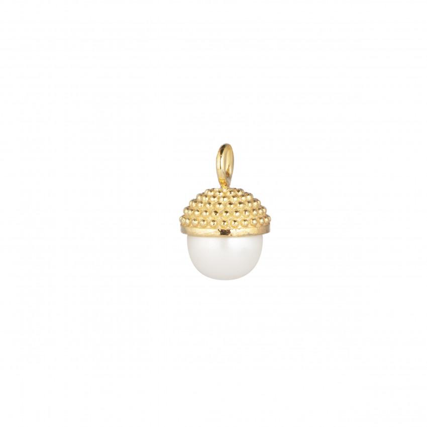 Letters Pearl Bubble Pendant Gold