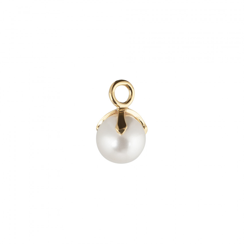 Letters Pearl Pendant Gold
