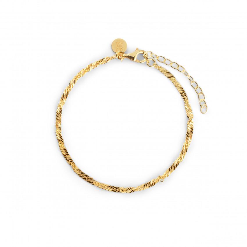 Letters Singapore Bracelet Gold