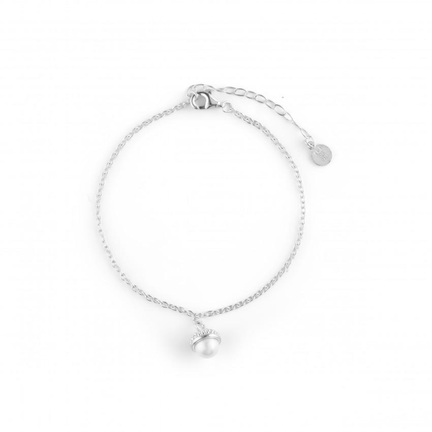 Pearl Bubble Brace Silver