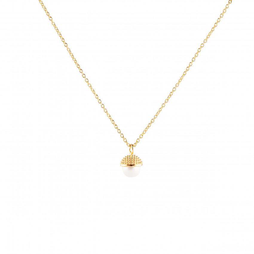 Pearl Bubble Short Neck Gold