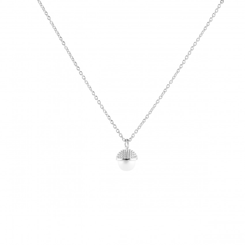 Pearl Bubble Short Neck Silver