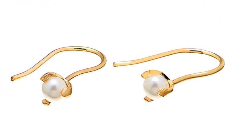 Pearl Short Ear Gold