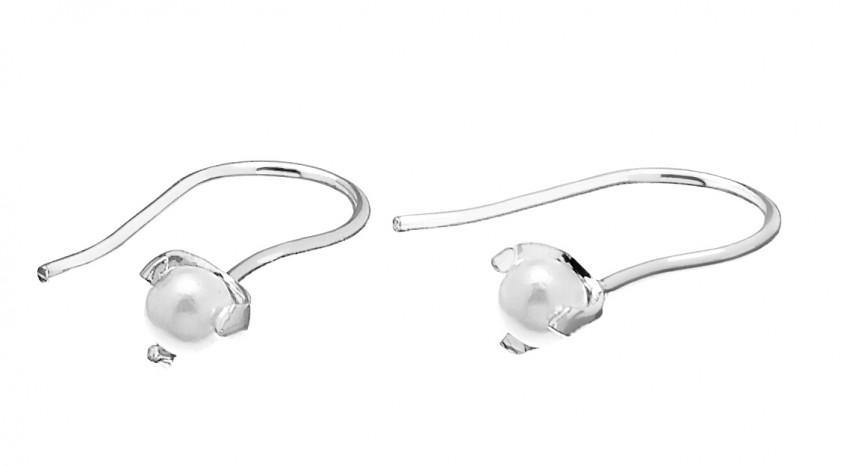 Pearl Short Ear Silver