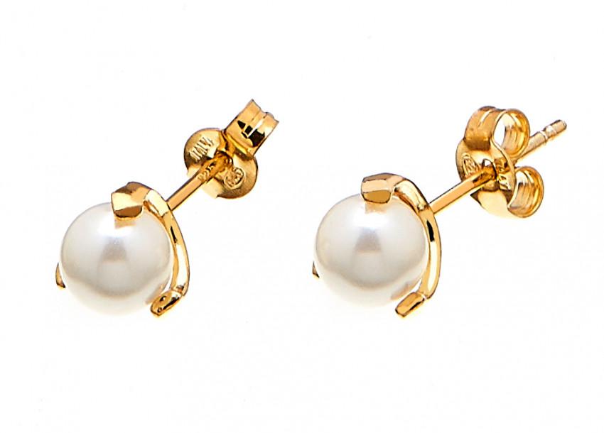 Pearl Stud Ear Gold