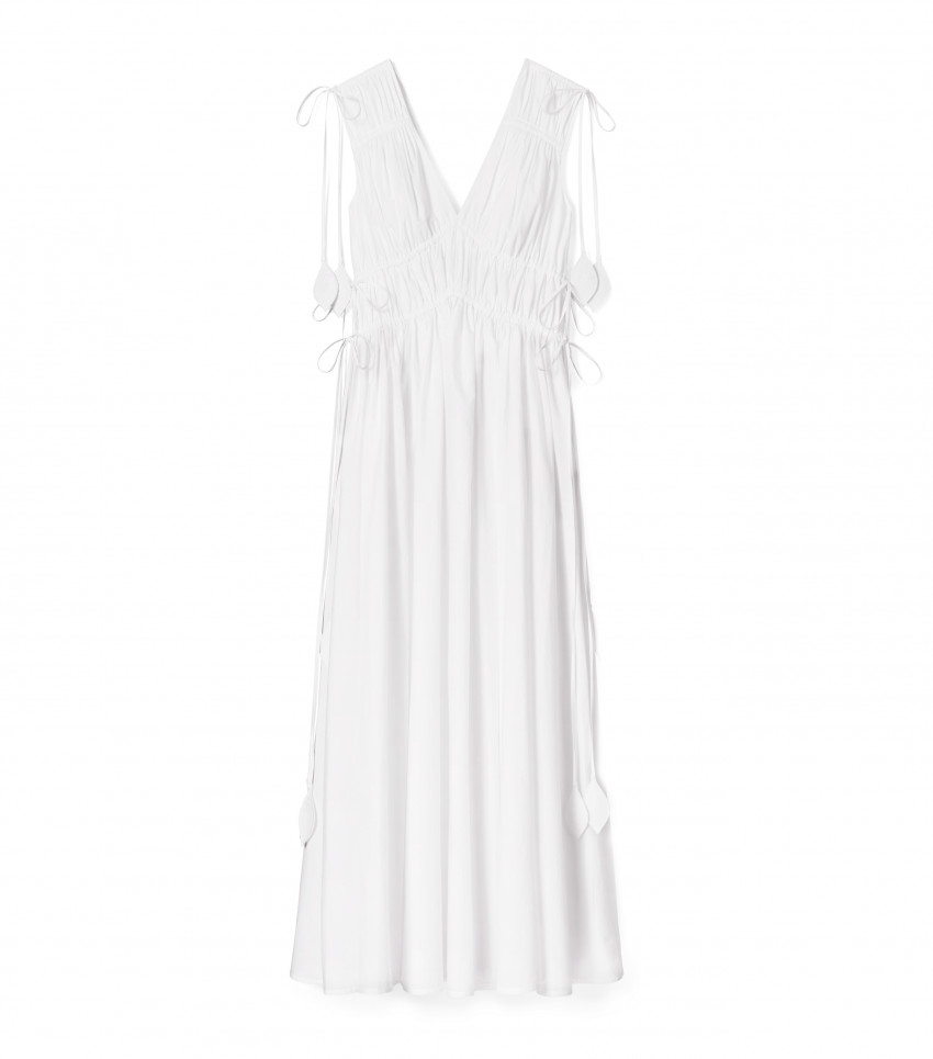 Smocked Dress White
