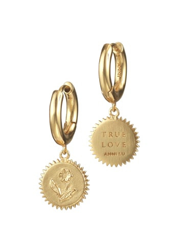 True Love Hoop Earrings Gold