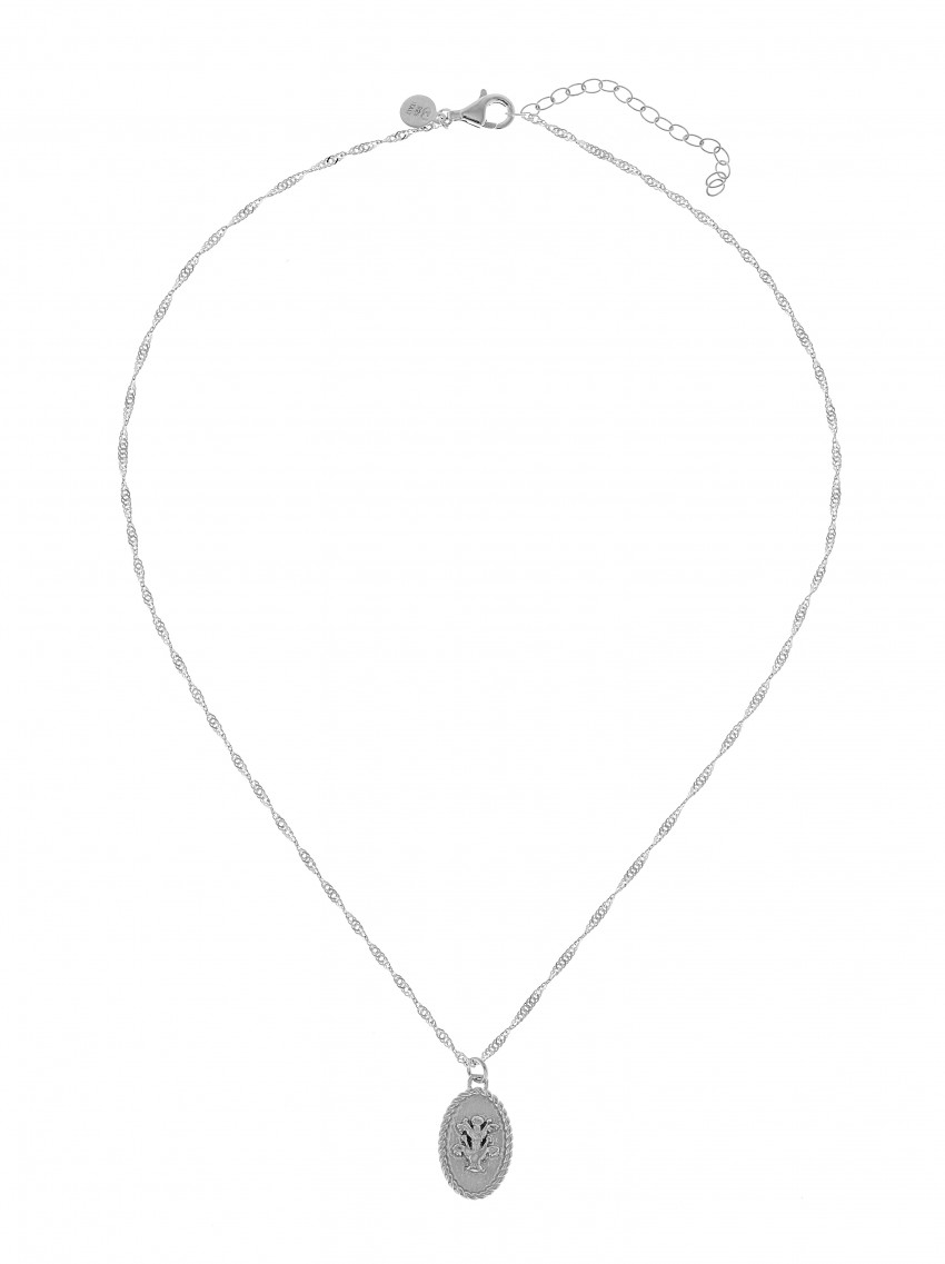 Two Flower Neck Silver